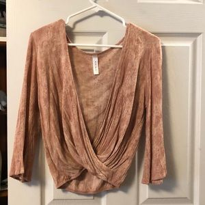 Pink boutique long sleeve shirt